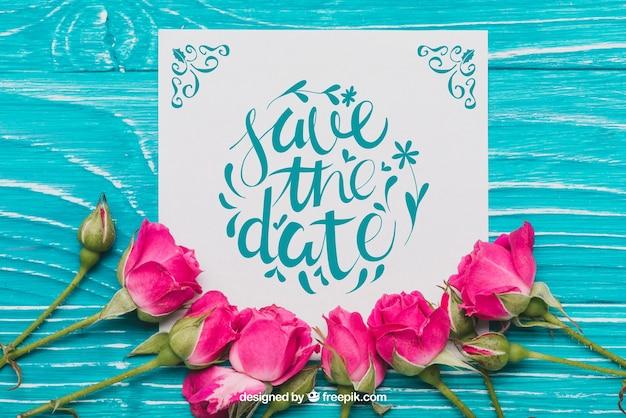 Floral salvar o conceito da data