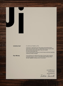 Flyer a4 mockup, modelo de cartaz.