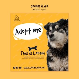 Flyer com adoção de animais