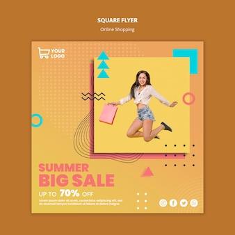 Flyer com compras on-line