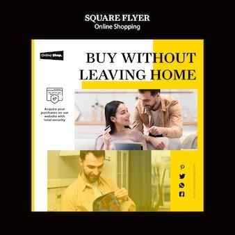 Flyer com cozinha em casa