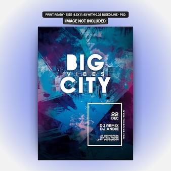 Flyer de festa de clube de cidade grande