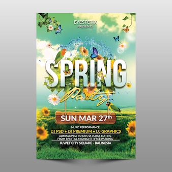 Flyer de festa de primavera
