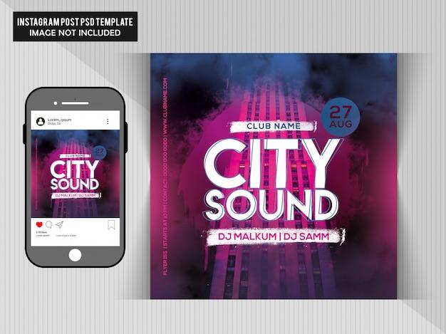 Flyer de festa de som da cidade