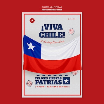 Flyer do dia internacional do chile