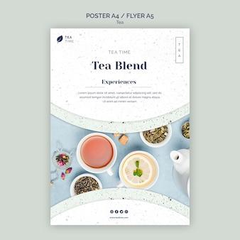 Flyer para a hora do chá