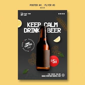 Flyer para beber cerveja