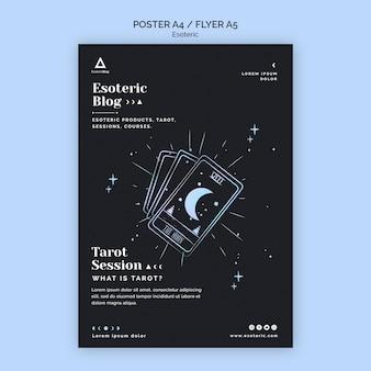Flyer para blog esotérico Psd grátis