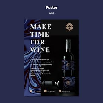 Flyer para negócios de vinho