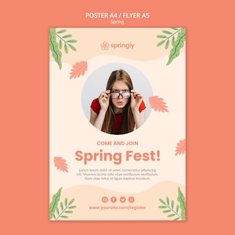 Flyer para o festival da primavera