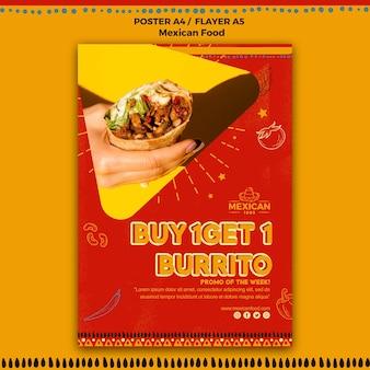 Flyer para restaurante de comida mexicana