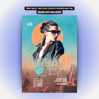 Flyer urbano da cidade