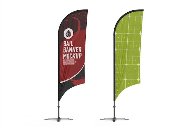 Flying banner mockup