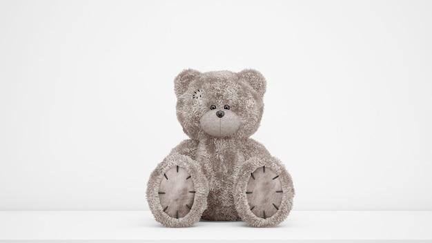 Fofo urso de pelúcia brinquedo