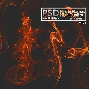 Fogo e chamas de alta qualidade