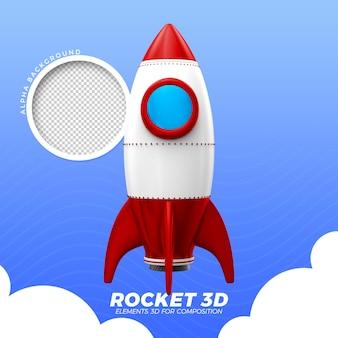 Foguete espacial 3d