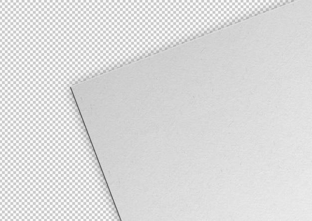 Folha branca de textura de papel isolada