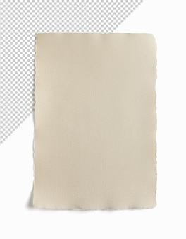 Folha de papel velha isolada renderização em 3d