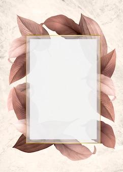Folhagem, decorado, quadro