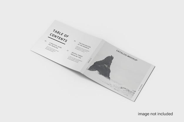 Folheto bifold a5 ou maquete de catálogo premium