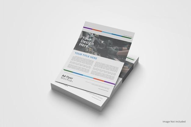 Folheto brochura maquete empilhada