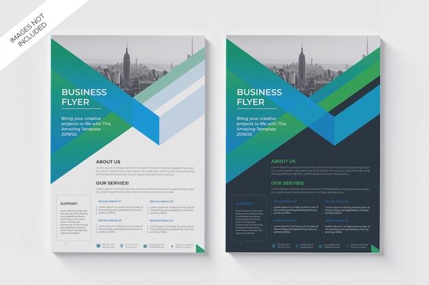 Folheto corporativo verde moderno, a4