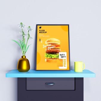 Folheto criativo e maquete de pôster para mostrar