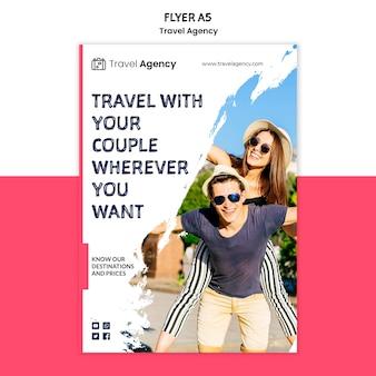 Folheto da agência de viagens
