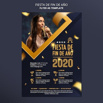 Folheto da fiesta de fin de ano 2020