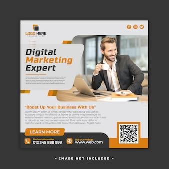 Folheto de agência de marketing digital premium psd