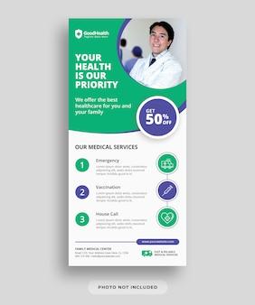 Folheto de assistência médica e de saúde