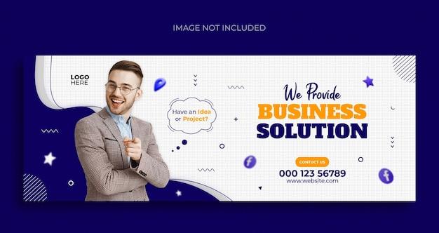 Folheto de banner da web de mídia social para promoção de negócios e modelo de design de capa do facebook