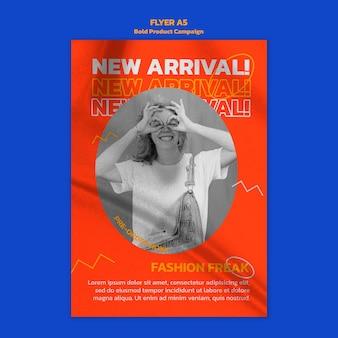 Folheto de campanha de produto com foto