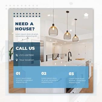 Folheto de casa moderna para venda