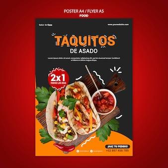 Folheto de comida e modelo de design de pôster