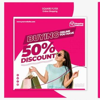 Folheto de compras on-line