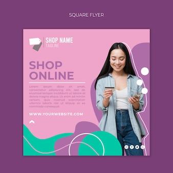 Folheto de compras online