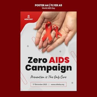 Folheto de conscientização do dia mundial da aids
