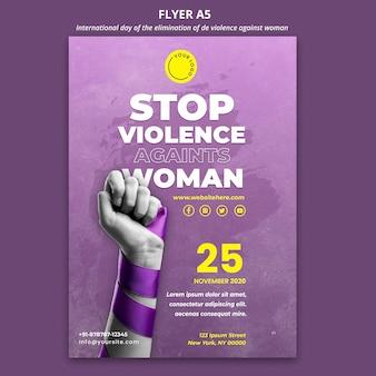 Folheto de conscientização sobre a violência contra as mulheres