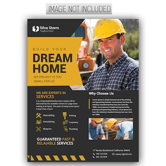 Folheto de construção