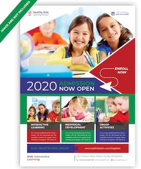 Folheto de crianças de educação