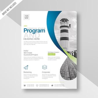 Folheto de design