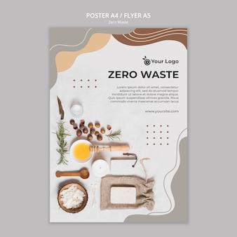 Folheto de desperdício zero