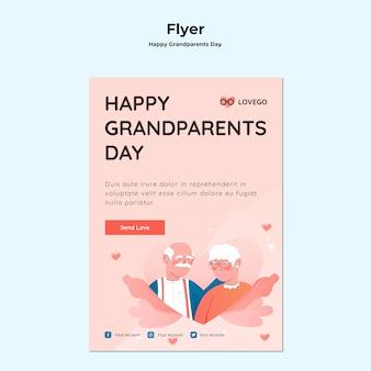 Folheto de dia dos avós feliz