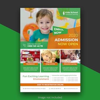Folheto de educação de crianças