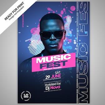Folheto de evento profissional musical a4