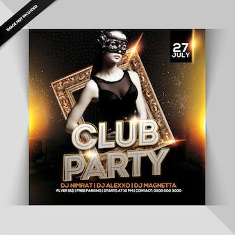 Folheto de festa de clube