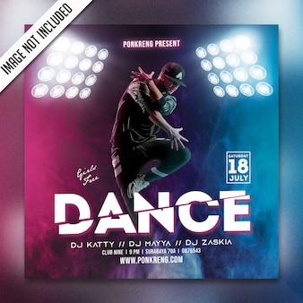 Folheto de festa de dança psd
