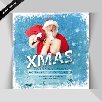 Folheto de festa de natal feliz