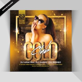 Folheto de festa do clube de ouro